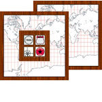 Bind It All - Teresa Collins - 2 Faux Wood Covers with Windows - Travelogue
