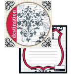 Teresa Collins - Travelogue - 12x12 Double Sided Paper - Destination, CLEARANCE