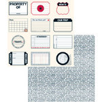 Teresa Collins - Travelogue - 12x12 Double Sided Paper - Travel Tags and Words