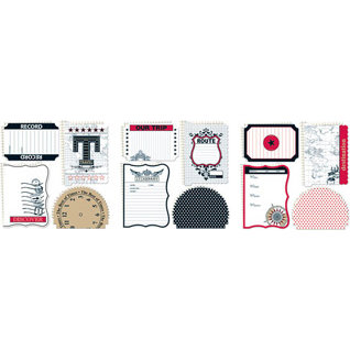 Teresa Collins - Travelogue - 12x12 Die Cuts - 3 Pack, CLEARANCE