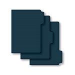 Bind It All - Teresa Collins - 3 Piece 5 x 7 Tab File Covers - Black