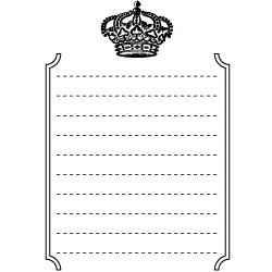 Teresa Collins - Cling Mounted Rubber Stamps - Crown, BRAND NEW
