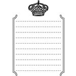 Teresa Collins - Cling Mounted Rubber Stamps - Crown, CLEARANCE