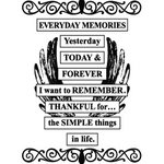 Teresa Collins - Cling Mounted Rubber Stamps - Everyday Memories, CLEARANCE