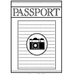 Teresa Collins - Cling Mounted Rubber Stamps - Passport, CLEARANCE