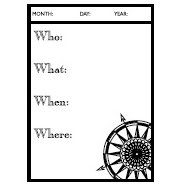 Teresa Collins - Cling Mounted Rubber Stamps - Who, What, Where?, CLEARANCE