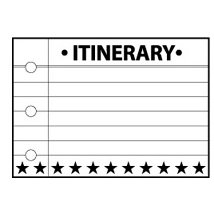 Teresa Collins - Cling Mounted Rubber Stamps - Notebook Itinerary, CLEARANCE