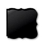 Bind It All - Teresa Collins - 2 Large Bracket Shape Covers - Black, CLEARANCE