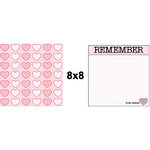 Teresa Collins - Crush Collection - Valentines - 8 x 8 Double Sided Paper - Tickled Pink, CLEARANCE