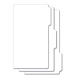 Bind It All - Teresa Collins - 3 Piece 7 x 13 Tab File Covers - White