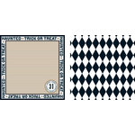 Teresa Collins - Spooktacular Halloween Collection - 12 x 12 Double Sided Paper - Trick or Treat, CLEARANCE