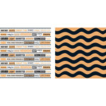 Teresa Collins - Spooktacular Halloween Collection - 12 x 12 Double Sided Paper - Spooky Words, CLEARANCE