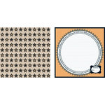 Teresa Collins - Spooktacular Halloween Collection - 12 x 12 Double Sided Paper - Spooktacular Stars, CLEARANCE