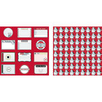 Teresa Collins - Tis the Season Christmas Collection - 12 x 12 Double Sided Paper - Christmas Notes
