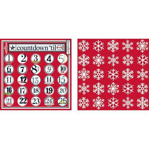 Teresa Collins - Tis the Season Christmas Collection - 12 x 12 Double Sided Paper - Countdown to Christmas
