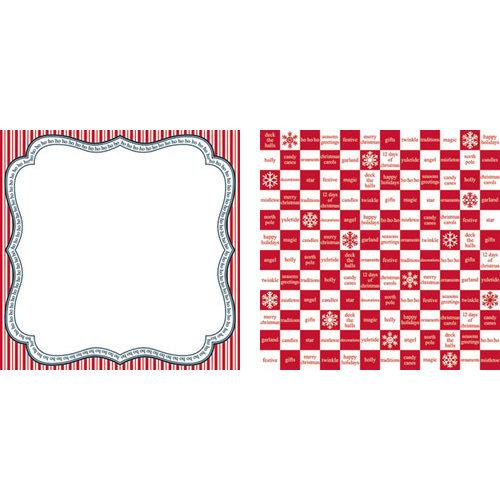 Teresa Collins - Tis the Season Christmas Collection - 12 x 12 Double Sided Paper - ho ho ho, CLEARANCE
