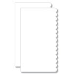 Bind It All - Teresa Collins - 2 Piece 7 x 13 Scallop Covers - White