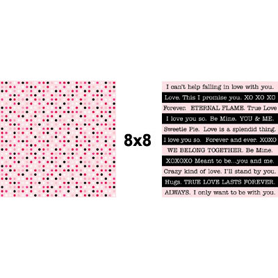 Teresa Collins - Crush Collection - Valentines - 8 x 8 Double Sided Paper - Love Dots, CLEARANCE