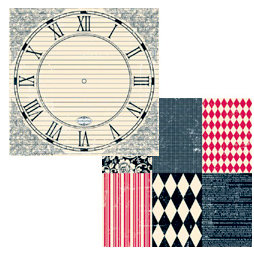 Teresa Collins - Documented Collection -  12 x 12 Double Sided Paper - life TIME