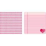Teresa Collins - Crush Collection - Valentines - 12 x 12 Double Sided Paper - Cupids, CLEARANCE