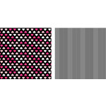 Teresa Collins - Crush Collection - Valentines - 12 x 12 Double Sided Paper - Heartland, CLEARANCE