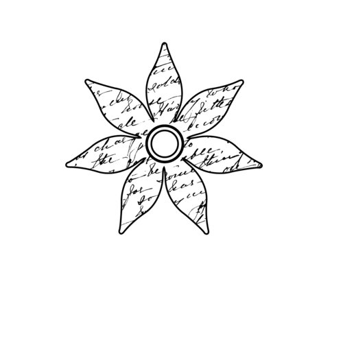 Teresa Collins - Friendship Collection - Cling Mounted Rubber Stamp - Friendship Flower