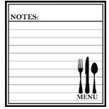 Teresa Collins - Cling Mounted Rubber Stamp - Menu Notes, CLEARANCE