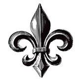 Teresa Collins - Cling Mounted Rubber Stamp - Family Fleur de Lis