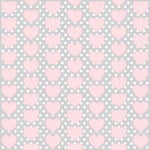 Teresa Collins - Crush Collection - Valentines - 8 x 8 Transparency - Pink Hearts, CLEARANCE