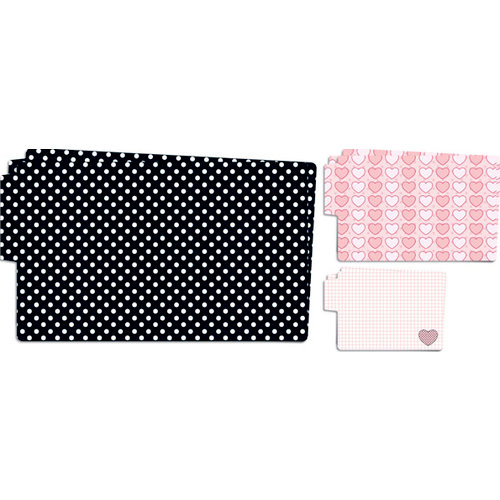 Teresa Collins - Crush Collection - Valentines - Die Cut Folders - Polka Dots