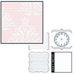 Teresa Collins - Journal-it Girl Collection - 12 x 12 Double Sided Paper - Pink Damask