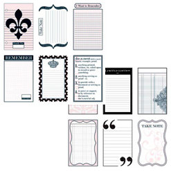 Teresa Collins - Journal-it Girl Collection - 12 x 12 Double Sided Paper - Crown Notes
