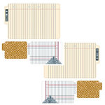 Teresa Collins - Family Matters Collection - Die Cut File Folders - 3 Pack