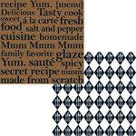 Teresa Collins - Haute Cuisine Collection - 12 x 12 Double Sided Paper - Cuisine Words, CLEARANCE