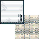 Teresa Collins - Haute Cuisine Collection - 12 x 12 Double Sided Paper - Menu Planner