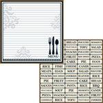 Teresa Collins - Haute Cuisine Collection - 12 x 12 Double Sided Paper - Menu Planner