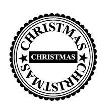 Teresa Collins - Tis the Season Christmas Collection - Rubber Stamps - Christmas Circle, CLEARANCE