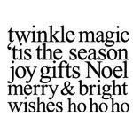 Teresa Collins - Tis the Season Christmas Collection - Rubber Stamps - Christmas Words, CLEARANCE