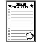 Teresa Collins - Tis the Season Christmas Collection - Rubber Stamps - Gifts Checklist, CLEARANCE