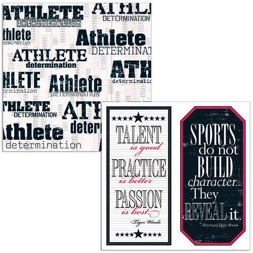 Teresa Collins - Sports Edition Collection - 12 x 12 Double Sided Paper - Sports Athlete - click to enlarge