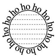 Teresa Collins - Tis the Season Christmas Collection - Rubber Stamps - Ho Ho Ho Circle, CLEARANCE