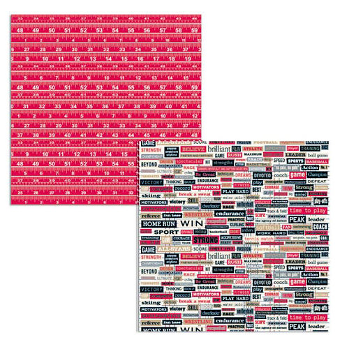 Teresa Collins - Sports Edition Collection - 12 x 12 Double Sided Paper - Ty's Sports Words