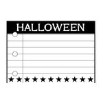 Teresa Collins - Spooktacular Halloween Collection - Rubber Stamps - Halloween Notebook, CLEARANCE