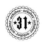 Teresa Collins - Spooktacular Halloween Collection - Rubber Stamps - October 31st, CLEARANCE