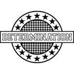 Teresa Collins - Sports Edition Collection - Cling Mounted Rubber Stamp - Determination, CLEARANCE