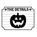 Teresa Collins - Spooktacular Halloween Collection - Rubber Stamps - Pumpkin, CLEARANCE