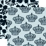 Teresa Collins - Chic Bebe Boy Collection - 12 x 12 Double Sided Paper - Royalty, CLEARANCE