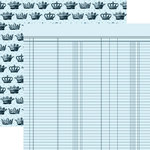 Teresa Collins - Chic Bebe Boy Collection - 12 x 12 Double Sided Paper - Ledger, CLEARANCE