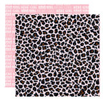 Teresa Collins - Chic Bebe Girl Collection - 12 x 12 Double Sided Paper - Leopard, BRAND NEW