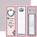 Teresa Collins - Chic Bebe Girl Collection - 12 x 12 Double Sided Paper - Long Tags, CLEARANCE